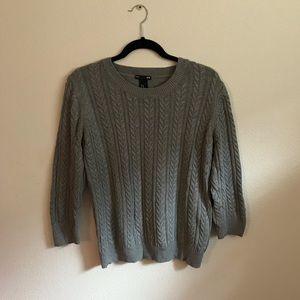 🌿 H&M gray knit sweater ✨